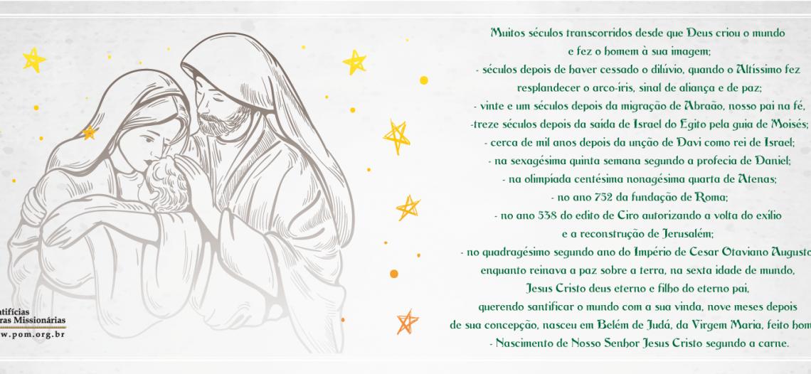 As Pontifícias Obras Missionárias desejam um Natal de Paz e Esperança