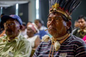 Xavante da reserva Parabubure, no MT, acompanharam sessão do STF junto a quilombolas. Ação sobre sua terra não foi julgada, mas decisão a favor de quilombolas e contra marco temporal fortalece indígenas. Foto: Tiago Miotto/Cimi