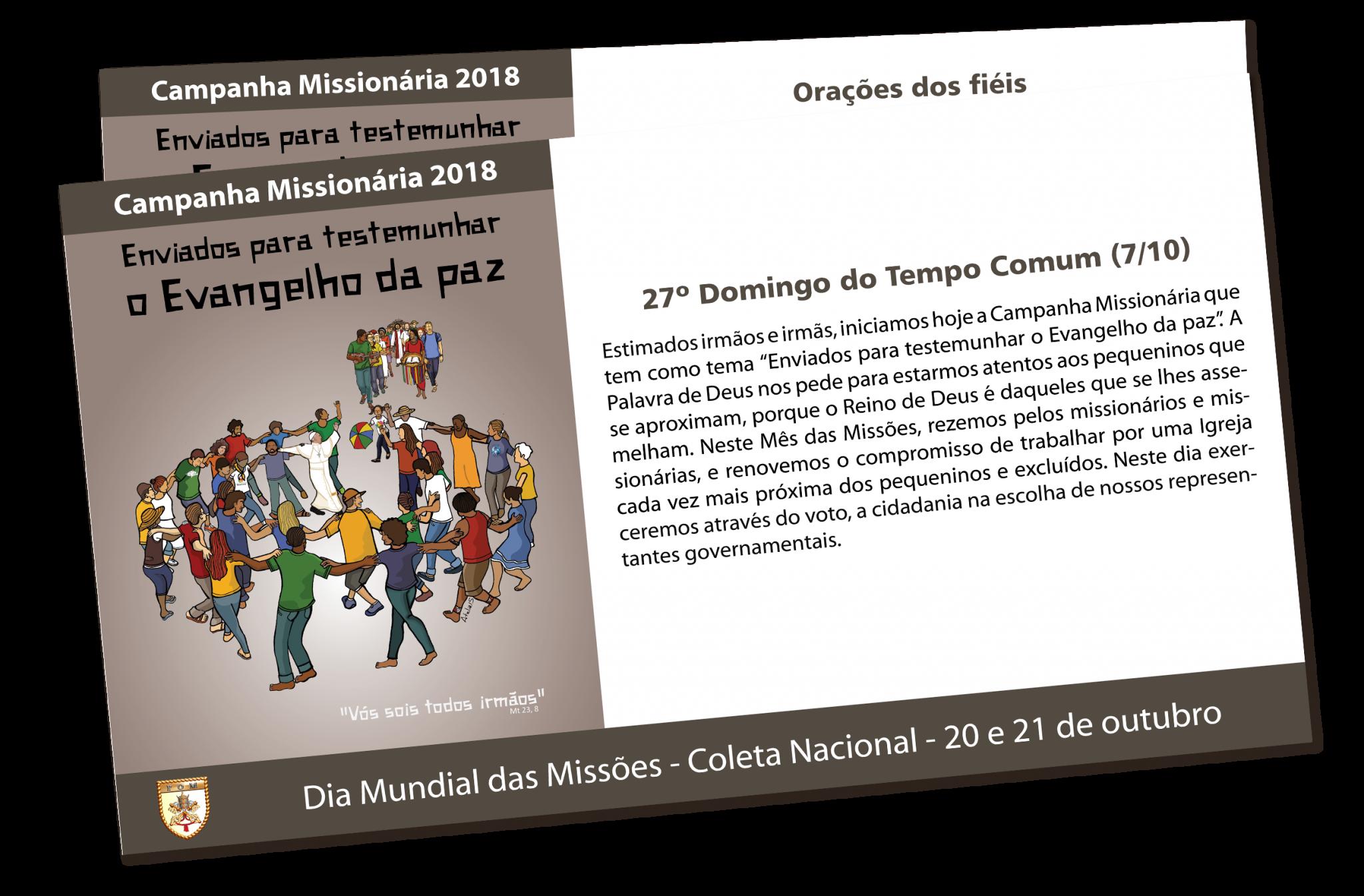 Campanha Missionária 2018 Pontifícias Obras Missionárias