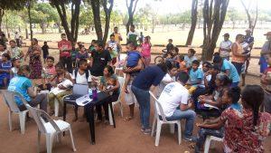 pa Equipe do ACNUR cadastra indígenas Warao na paraça