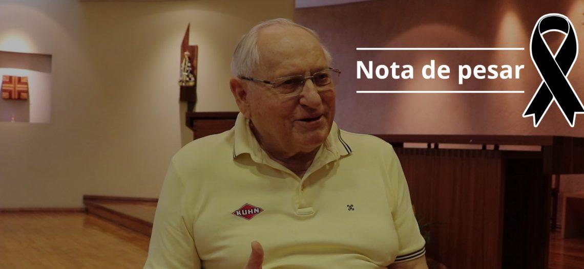 Nota de pesar pela morte do Pe. João Panazzolo