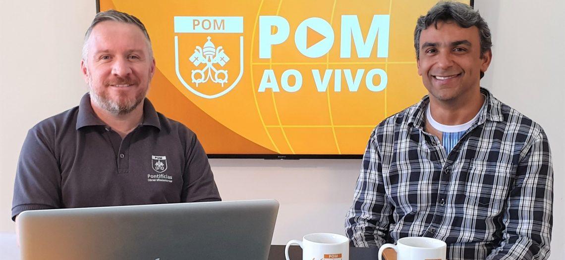 Pe. Badacer foi o convidado da live POM AO VIVO