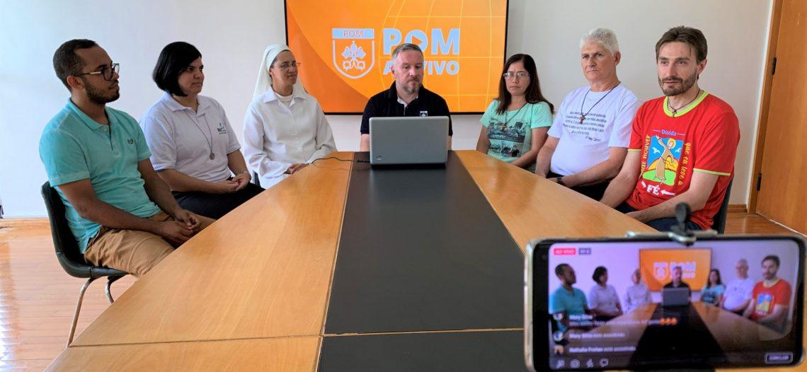 Missionários Ad Gentes participam no POM AO VIVO