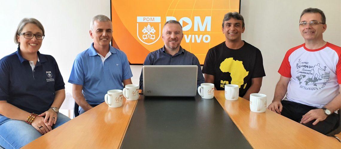 Equipe executiva participa do POM AO VIVO