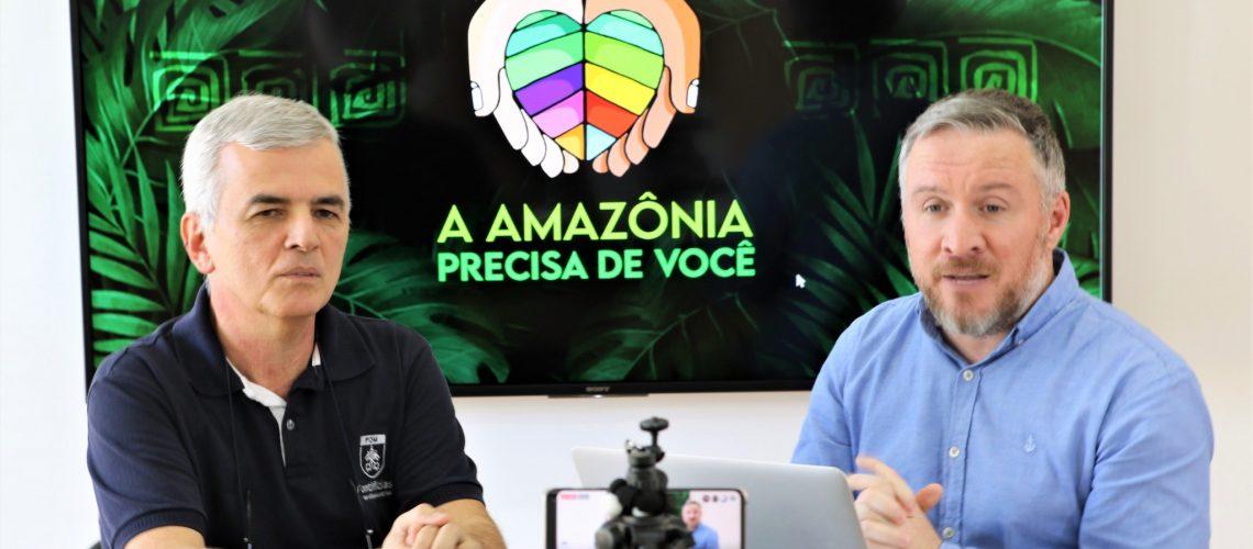 """Campanha """"A Amazônia precisa de você"""" na live POM AO VIVO"""
