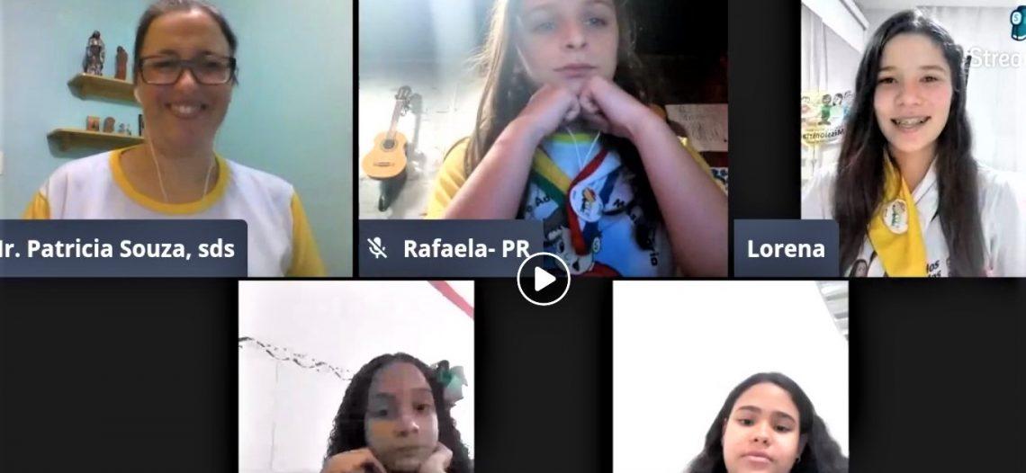 IAM realiza live com as crianças e adolescentes da Obra