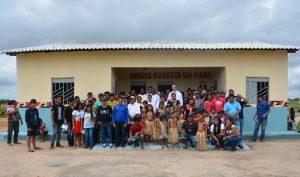 Inauguração da Escola construida com ajuda da Consolata Onlus na aldeia Linha Seca